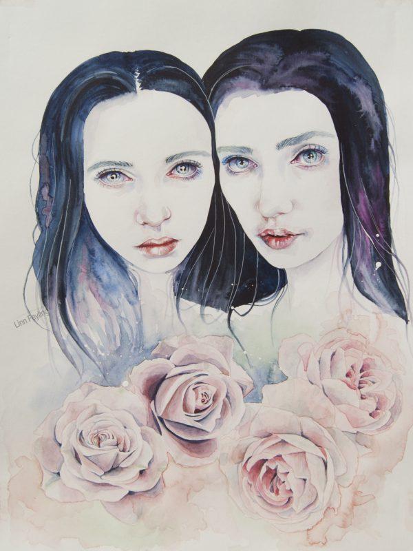 "Akvarellmaleri ""Are You That Somebody"""
