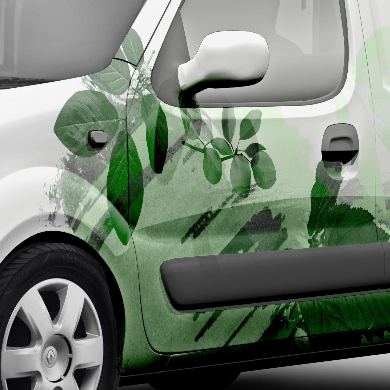 Firmabiler med grønt design