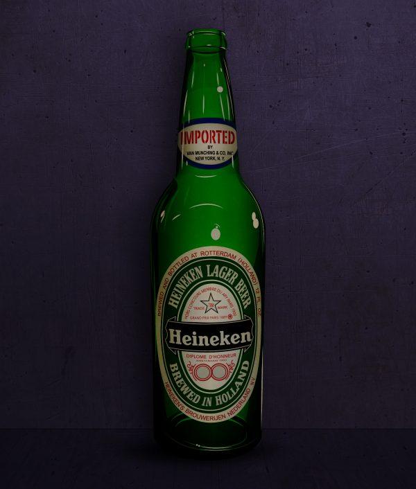 Illustrasjon av Heineken flaske