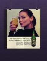 1960-tallet inspirert Heineken plakat