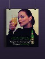 Heineken plakatdesign