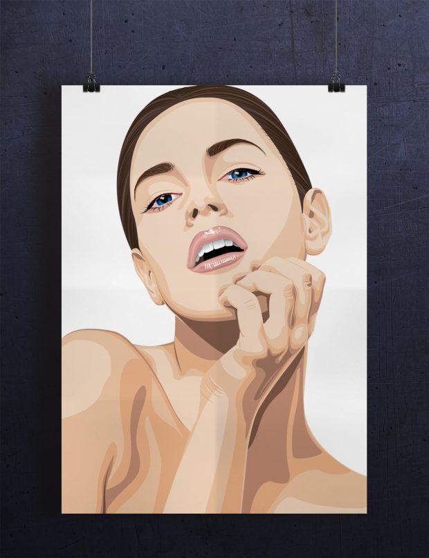 Portrett laget i Illustrator