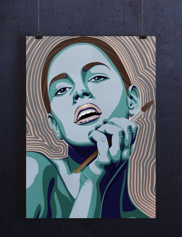 Portrett inspirert av Psykedelisk
