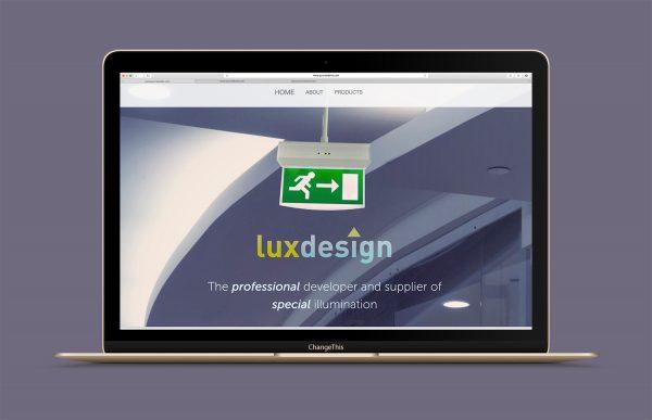 Nettsiden til luxdesign.no