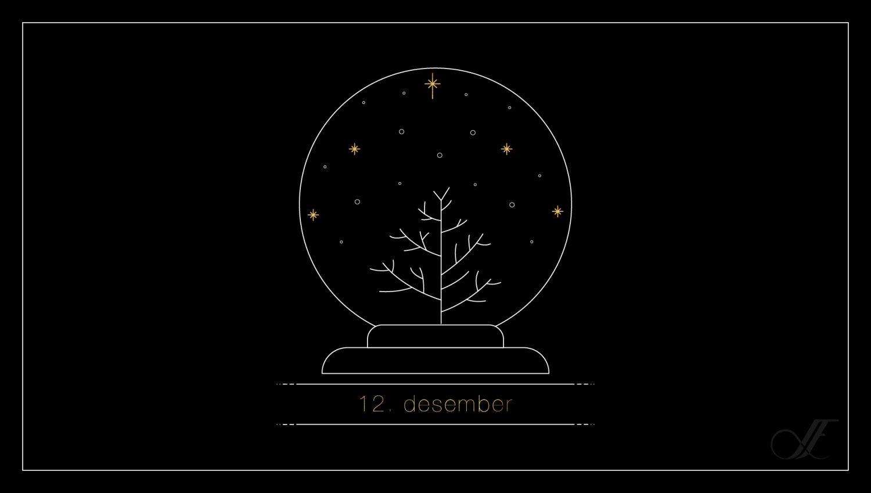 Juleillustrasjon for 12. desember