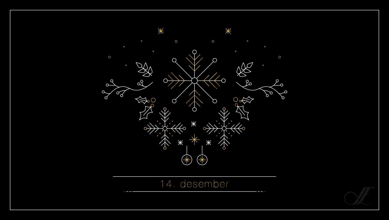 Juleillustrasjon for 14. desember