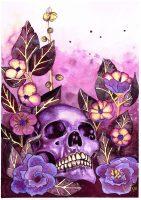 Lilla blomster illustrasjon av akvarell
