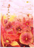 En blomster illustrasjon av akvarell