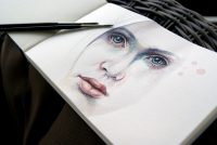 Akvarell portrett