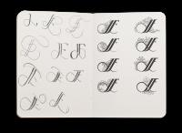 Logoskisser i skisseboka